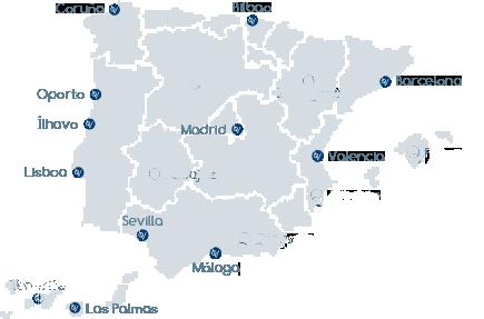 mapa oficinas gloval españa